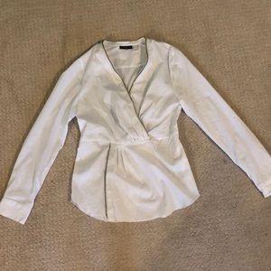 White cross chested shirt